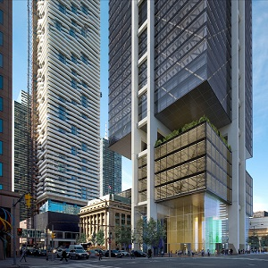 IMAGE: Rendering of Oxford Properties' The Hub in Toronto. (Courtesy Oxford Properties)