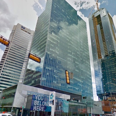 IMAGE: The City of Edmonton Tower was purchased by AIMCo. (Google Street View Image)