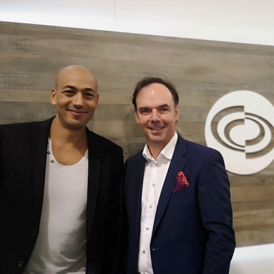IMAGE: Storefront founder and CEO Mohamed Haouache with Ivanhoe Cambridge retail president Claude Sirois. (Image courtesy Storefront)