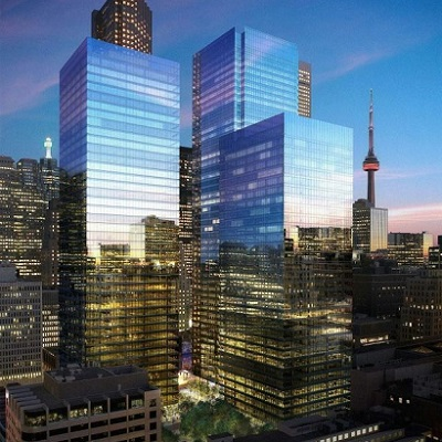 IMAGE: The Bay Adelaide Centre in Toronto will get its third tower. (Image courtesy Brookfield)