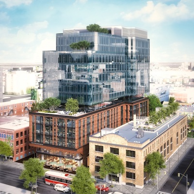 IMAGE Allied Properties and RioCan are developing the King Portland Centre in Toronto. (Image courtesy Allied)