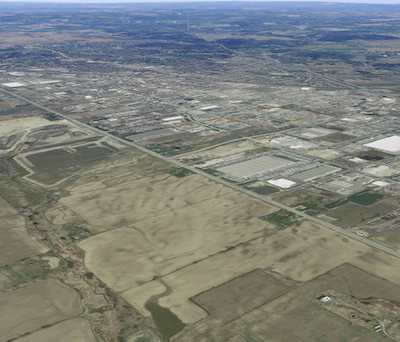 IMAGE: Coleraine Dr. in Bolton, in the Town of Caledon, is the site of several of the largest industrial construction developments in the GTA. (Google Street View image)