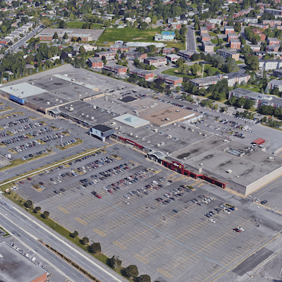 IMAGE: Place Desormeaux in Longueuil, Que., is one of 11 properties being sold by Partners REIT. (Google Street View image)