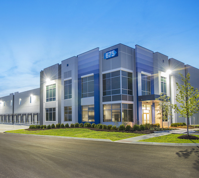 IMAGE: PArk North at Monroe is an industrial park in Monroe, Ohio, owned by IDI Logistics. (Image courtesy IDI, Ivanhoe Cambridge & Oxford Properties)