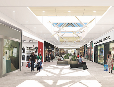 IMAGE: Artist's rendering of the renovated interior of The Centre shopping mall in Saskatoon. (Courtesy Morguard REIT)