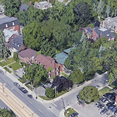 IMAGE: Toronto developer Altree, the latest venture from Zev Mandelbaum, proposes a luxury condo for this corner at St. Clair Ave. and Forest Hill Road in Toronto. (Google Street View image)