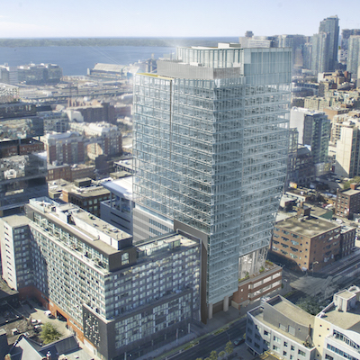 Image: The Shift, being built at 25 Ontario St., in Toronto by First Gulf. (Rendering courtesy First Gulf)