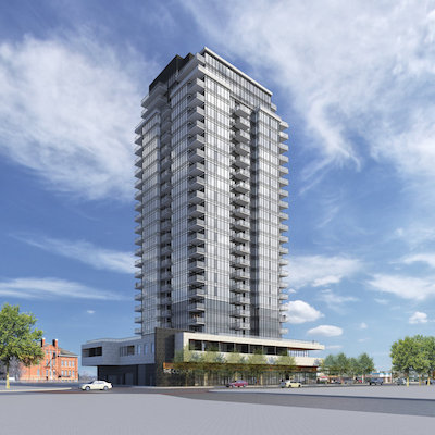 IMAGE: Hat @ Five Corners is being developed in The Quarters district in Edmonton by Cidex. (Rendering courtesy Cidex)