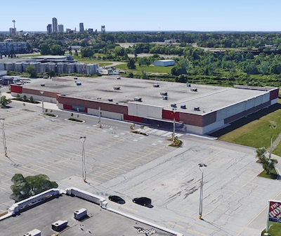 IMAGE: CT REIT has bought and will redevelop the former Target site at 7190 Morrison St., in Niagara Falls. (Google Street View image)