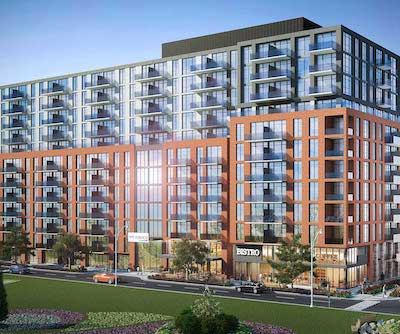 IMAGE: The Sumach residences, being built in Toronto by Chartwell Retirement Residences. (Rendering courtesy Chartwell)