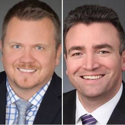 IMAGE: Mark Petznick (left) and Tim Bell have both returned to Devencore in Toronto. Petznick is a partner and senior vice-president, Bell as managing director and broker. (Courtesy Devencore)