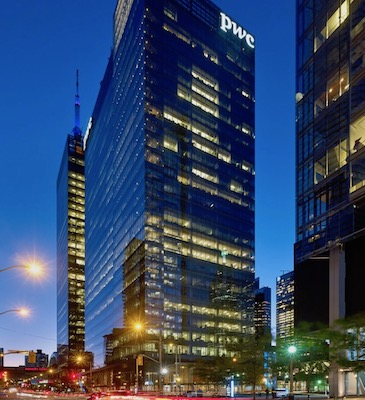 IMAGE: The PwC Tower at Southcore Financial Centre is Toronto is one of the prime assets which will be included in a new Canadian Core fund in partnership with RBC GAM and BCI. (Courtesy RBC GAM)