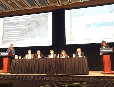 IMAGE: Members of the closing roundtable discuss commercial real estate fundamentals at RealCapital 2019 in Toronto. (Steve McLean RENX)