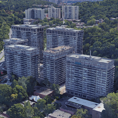 IMAGE: Rockhill apartments in Montreal. (Google Street View)