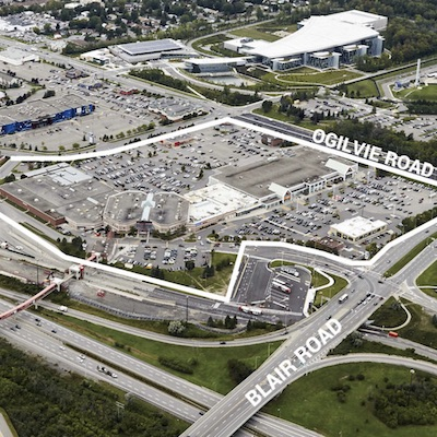 IMAGE: The Gloucester City Centre mall in Ottawa. Firm Capital has purchased a 50 per cent interest in the shopping centre as part of a six-property transaction with First Capital. (Courtesy First Capital)