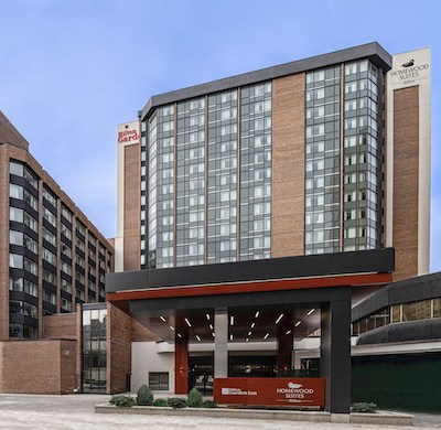 IMAGE: Morguard has officially opened its Hilton Garden Inn and Homewood Suites by Hilton Ottawa Downtown. (Courtesy Morguard)