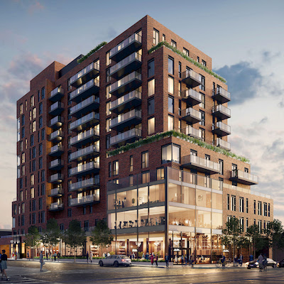 IMAGE: St. Clair Village is a new development in Toronto by Canderel. (Courtesy Canderel)