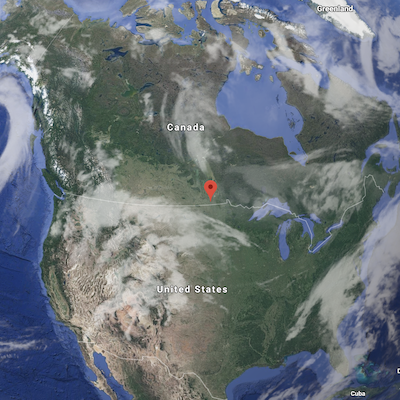 IMAGE: Winkler sits pretty much in the middle of North America, a location the city's mayor says serves it well. (Google Maps)
