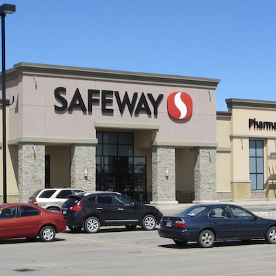 IMAGE: The Saddletown Circle Safeway in Calgary is one of 15 retail sites being sold by Crombie REIT to Oak Street Real Estate Capital of Chicago. (Courtesy Crombie REIT)