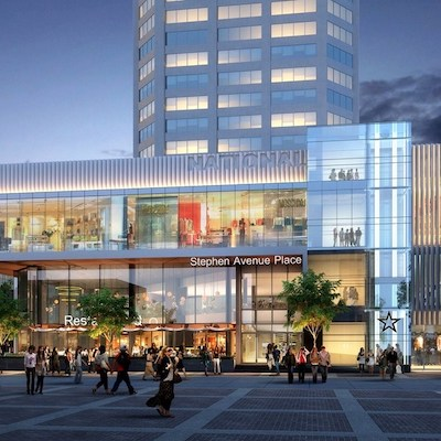 IMAGE: Stephen Avenue Place in Calgary is getting a major makeover from new owner Slate. (Courtesy Slate)