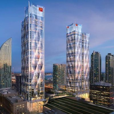 IMAGE: The CIBC Square office complex in downtown Toronto.