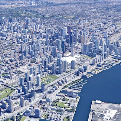 IMAGE: Commercial real estate rents have declined across Canada, including Toronto, according to StatCan. (Google Maps image)