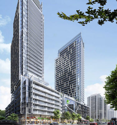 IMAGE: Aoyuan International took the People's Choice Award at the 39th BILD Awards in Toronto for its M2M condo development. (Courtesy Aoyuan)