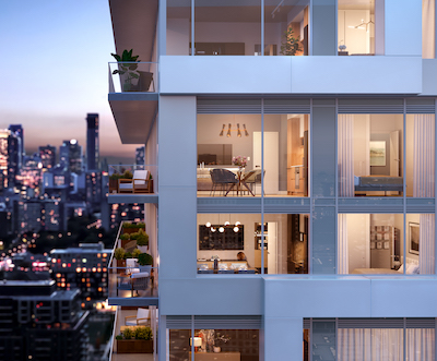 IMAGE: River & Fifth will be the first condo project in Toronto developed by Montreal-based builder Broccolini. (Courtesy Broccolini)