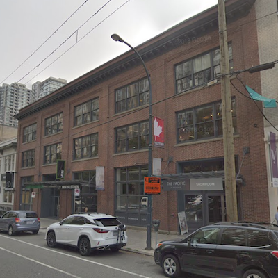 IMAGE: This commercial property at 1050 Homer St., in Vancouver is one of several acquisitions by Allied Properties REIT. (Google Street View)