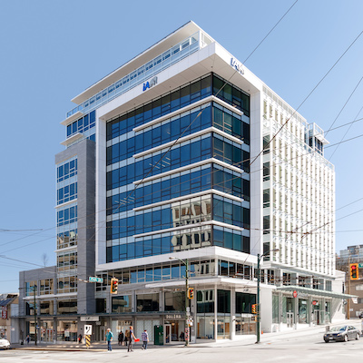 IMAGE: 988 West Broadway in Vancouver, constructed by Bluesky Properties (a Bosa company). (Courtesy Bluesky)