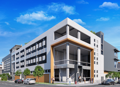IMAGE: The IntraUrban Evolution stacked industrial and office building in Vancouver. (Courtesy Colliers)