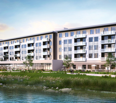IMAGE: The Grand Canal Retirement Residence, being constructed in Welland, Ont. by PlazaComm Commercial. (Courtesy City of Welland)