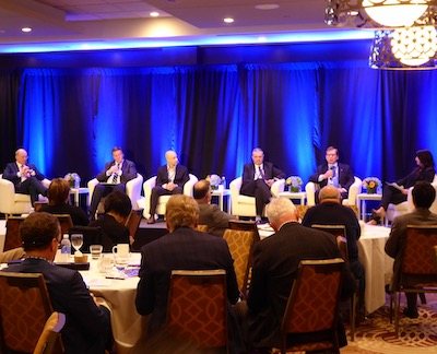 Image: Members of the closing panel discuss apartment market strategy at AptCon 19 in Toronto. (Steve McLean RENX)