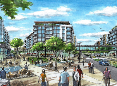 IMAGE: Artist's rendering of the proposed Le Quartier Forestia in Boisbriand, part of Greater Montreal. (Courtesy Le Quartier Forestia)