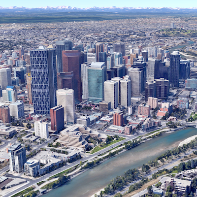 IMAGE: Approval of the TMX pipeline project by the federal government will not have any major, or immediate, impact on downtown Calgary's office market local observers say. (Google Maps image)