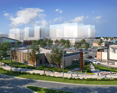 IMAGE: A 300,000-square-foot retail site will be built as part of phase I of Royop's Township development in Calgary. (Courtesy Royop)