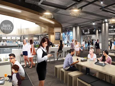 IMAGE: An artist's rendering of the Time Out Market Montreal, being constructed in the Montreal Eaton Centre. (Courtesy Time Out Markets)