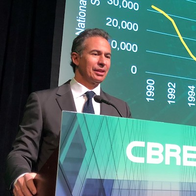 IMAGE: CBRE vice-chairman Paul Morassutti says Canadian cities continue to rise in importance in the North American technology sector. (Courtesy CBRE)