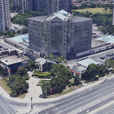 Imgae: Crown Realty and Plaza have created a joint venture to buy 30 Eglinton Ave. West in downtown Mississauga. (Google Maps image)