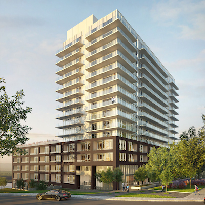 IMAGE: The Davis Residences at Bakerfield is a new condo development in Newmarket, Ont., by The Rose Corporation. (Courtesy Rose Corp.)
