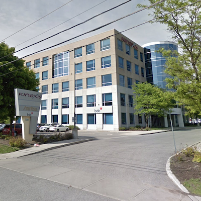 IMAGE: Ottawa supply management software firm Kinaxis will be moving to a purpose-built, 153,000-square-foot Ottawa office tower to be constructed by Taggart Realty Management. (Google StreetView image)