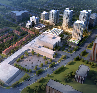 IMAGE: Westmount Place, a development planned by Killam Apartment REIT, would bring 1,100 new apartments to Waterloo, Ont. (Courtesy Killam)