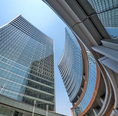 IMAGE: IMAGE: A view looking up from the public square at True North Place. (Courtesy True North)