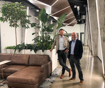IMAGE: IMAGE: Kane Willmott, co-founder and CEO, iQ Office Suites, and Alex Sharpe, iQ co-founder and president, in iQ's 150 King Street West location in Toronto's financial district. (Courtesy iQ Office Suites)