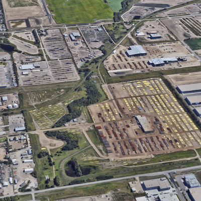IMAGE: Manulife and Panattoni have purchased this redevelopment site at the Fulton Creek Business Park at 6010 30th Street N.W. in Edmonton. (Google Street View image)