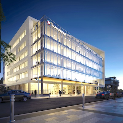 IMAGE: 345 King Street West is an office building being constructed in downtown Kitchener by Perimeter. (Courtesy Perimeter)