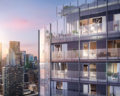 IMAGE: The Lake Suite condos will be constructed by Greenland Group at Toronto's East Bayfront area. (Courtesy Greenland Group)