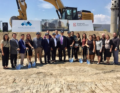 IMAGE: Groundbreaking for The Stockyard District Residences in Toronto on August 13, 2019. (Steve McLean RENX)
