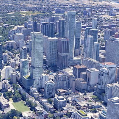 IMAGE: Toronto's Bloor-Yorkville corridor, running along Yonge St. in the heart of the downtown, is the fifth most expensive retail corridor in N. America according to a JLL report. (Google Street View)