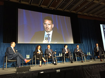 Panelists discuss multi-family transactions at the Canadian Apartment Investment Conference held in Toronto on Sept. 4, 2019 (Photo credit: Steve McLean)